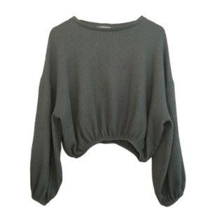 ZARA Cropped Ribbed Sweater